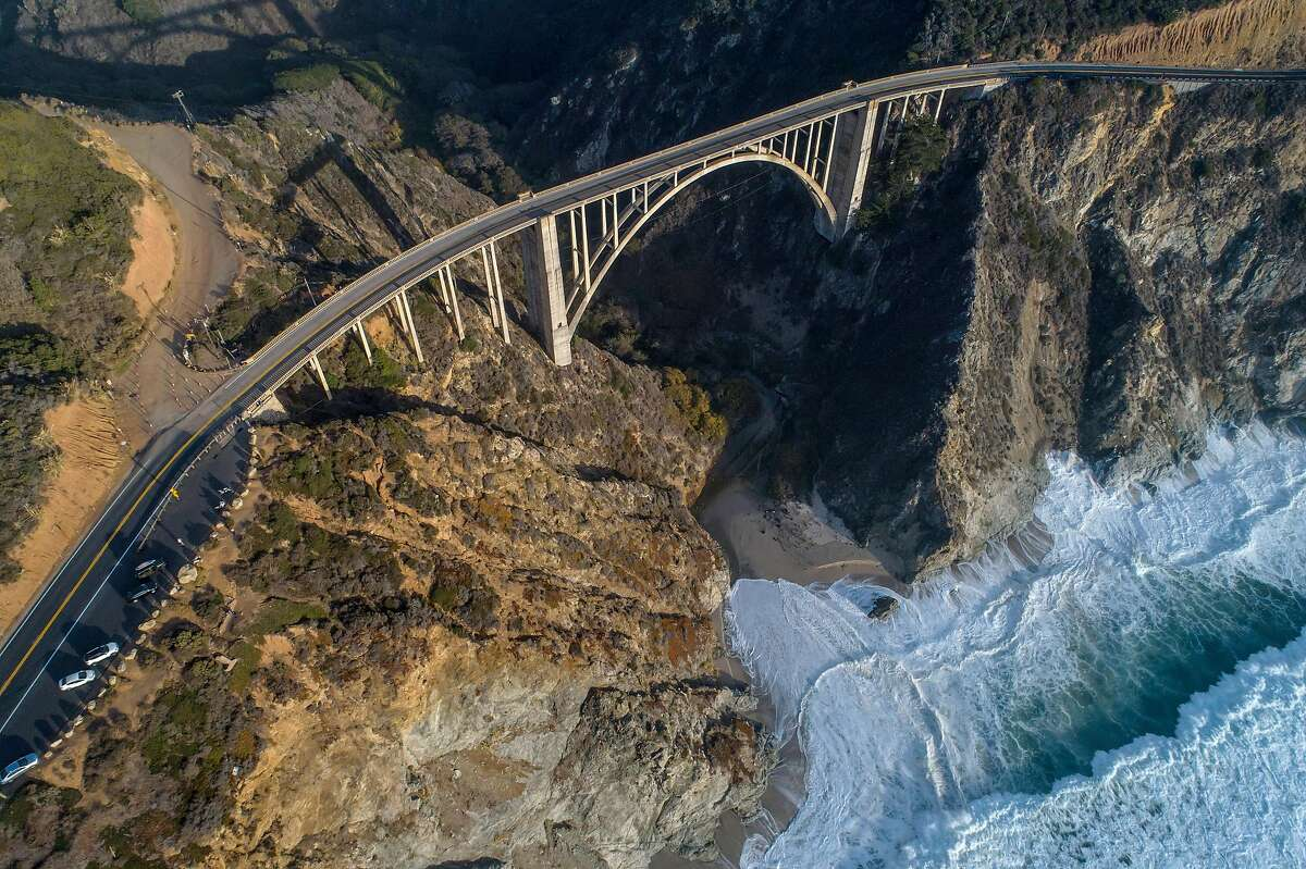 Bixby Creek Bridge outside Big Sur can become clogged with visitors.