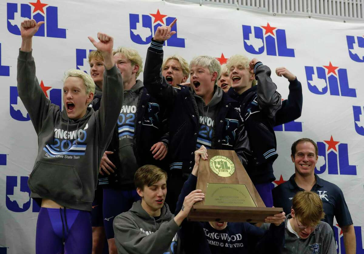 Kingwood took first place overall during the UIL State Swimming & Diving Championships at the Lee & Joe Jamail Texas Swimming Center, Saturday, Feb. 15, 2020, in Austin.