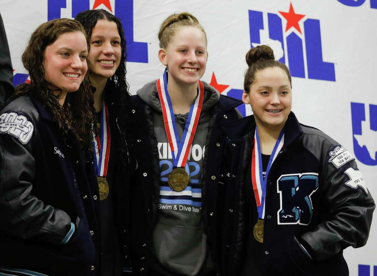 Kingwood took third in the 6A girls 400-meter relay during the UIL State Swimming & Diving Championships at the Lee & Joe Jamail Texas Swimming Center, Saturday, Feb. 15, 2020, in Austin.