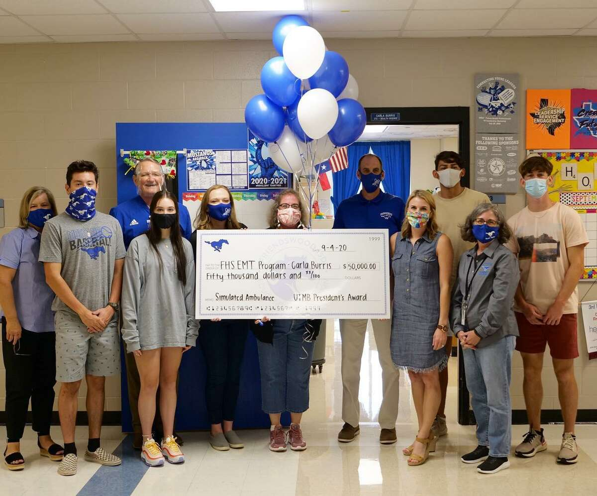 A $50,000 grant to Friendswood ISD Education Foundation from the University of Texas Medical Branch will fully fund a simulated ambulance for use at Friendswood High School's dual-credit EMT certification class.