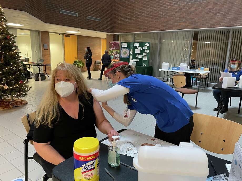 Midland County Department of Public Health hosted a clinic on Saturday, Dec. 26 for medical first responders to receive their first round of COVID-19 vaccines. Photo: Photo Provided/Midland County Department Of Public Health