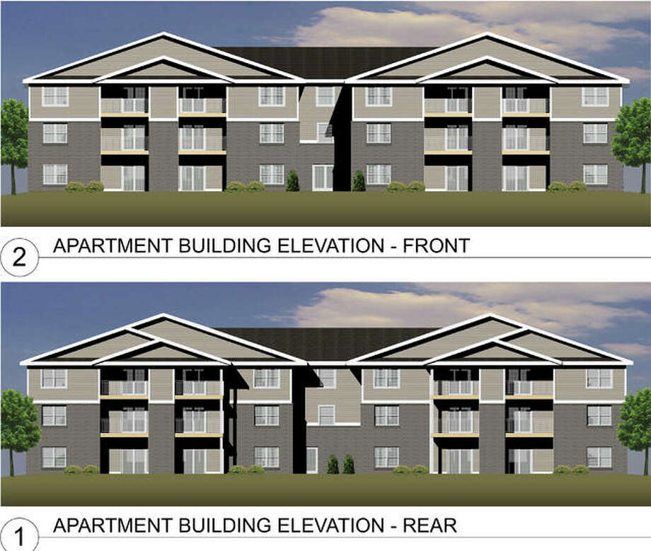 These renderings of the Edwardsville Senior Living Center show what the finished product may look like. The project is under construction on Hillsboro Lane.