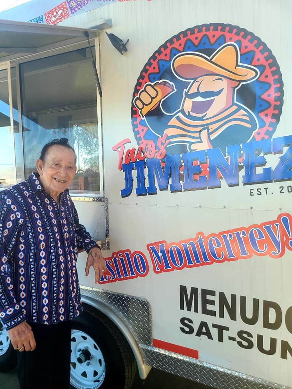 Tacos Jimenez, once owned by accordion ace Flaco Jimenez, is getting a second life thanks to his son and namesake, Leonardo Jimenez III. The younger Leonardo Jimenez said he and his wife Gilda Jimenez spent their savings to launch the mobile restaurant. Leonardo Jimenez said his parents owned a food truck about 20 years ago. His iteration Tacos Jimenez will start serving on Jan. 7.