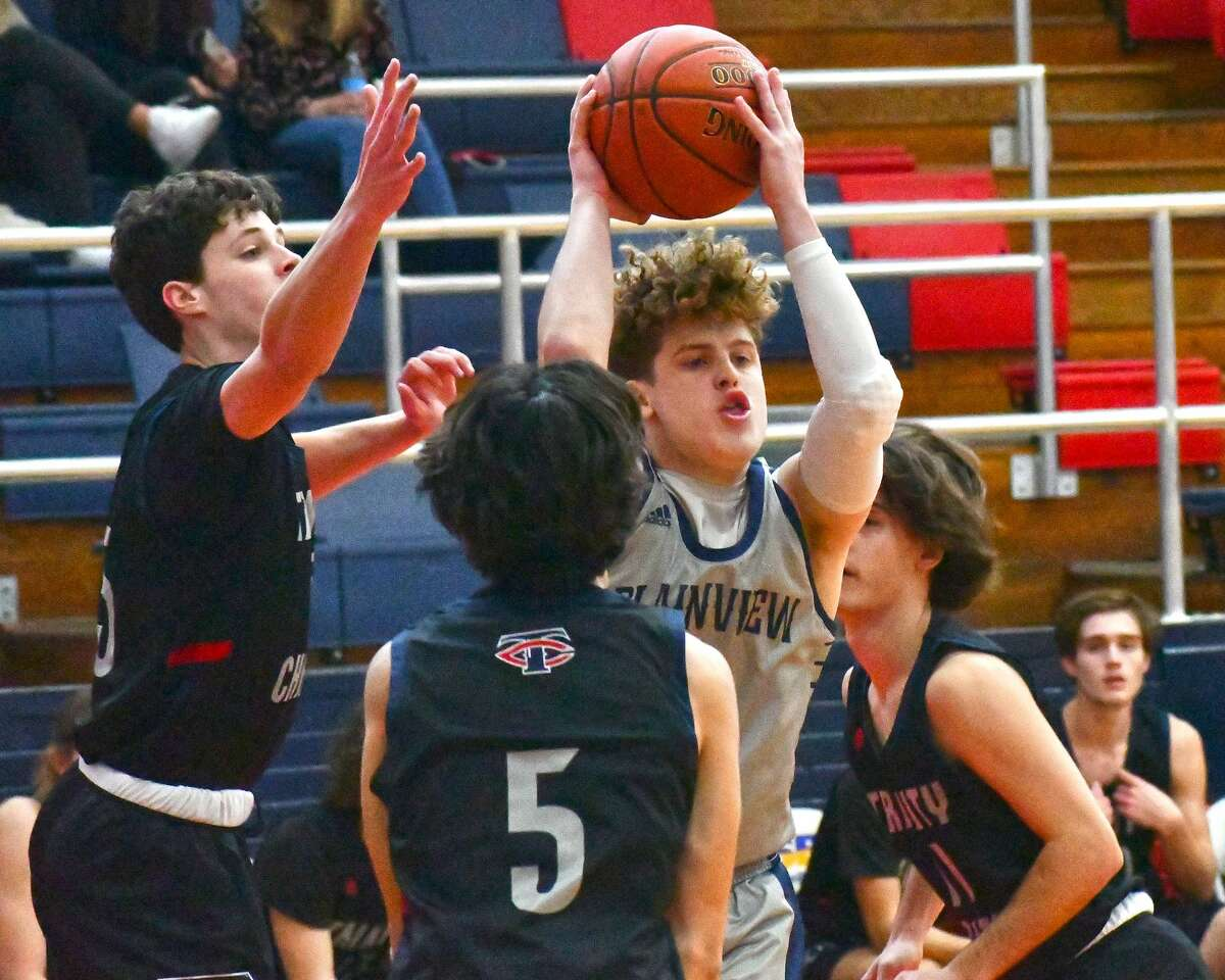 The Plainview boys basketball team suffered a 71-59 loss to Trinity Christian on Monday, Dec. 28, 2020 in the Dog House at Plainview High School.