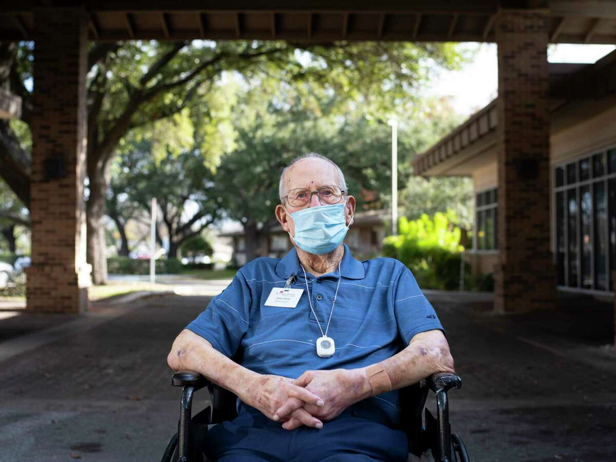 Eldon Webb, 95, a resident at Morningside Ministries Assisted Living Facility will receive the COVID-19 vaccination at his nursing home on Tuesday.