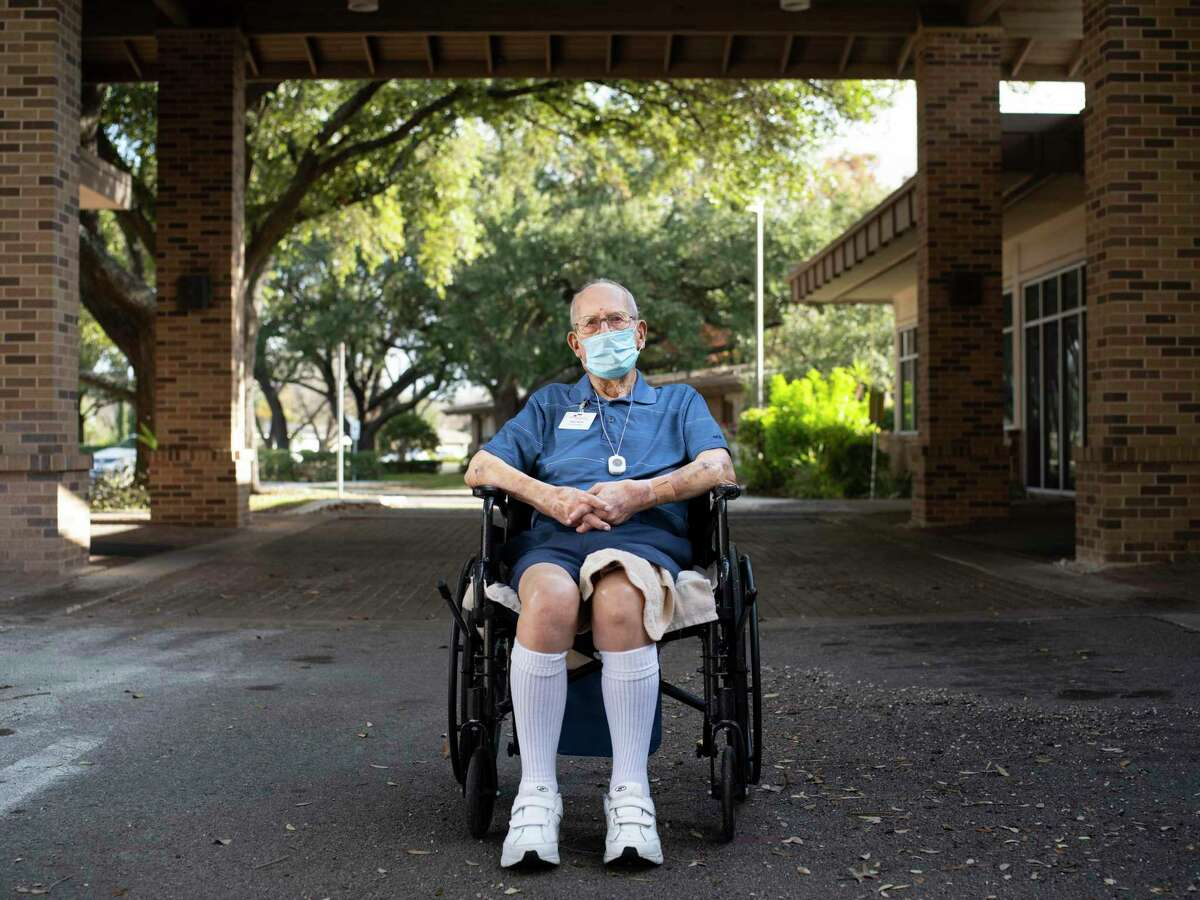 Webb, seen outside his nursing home at the Morningside Ministries Assisted Living Facility.