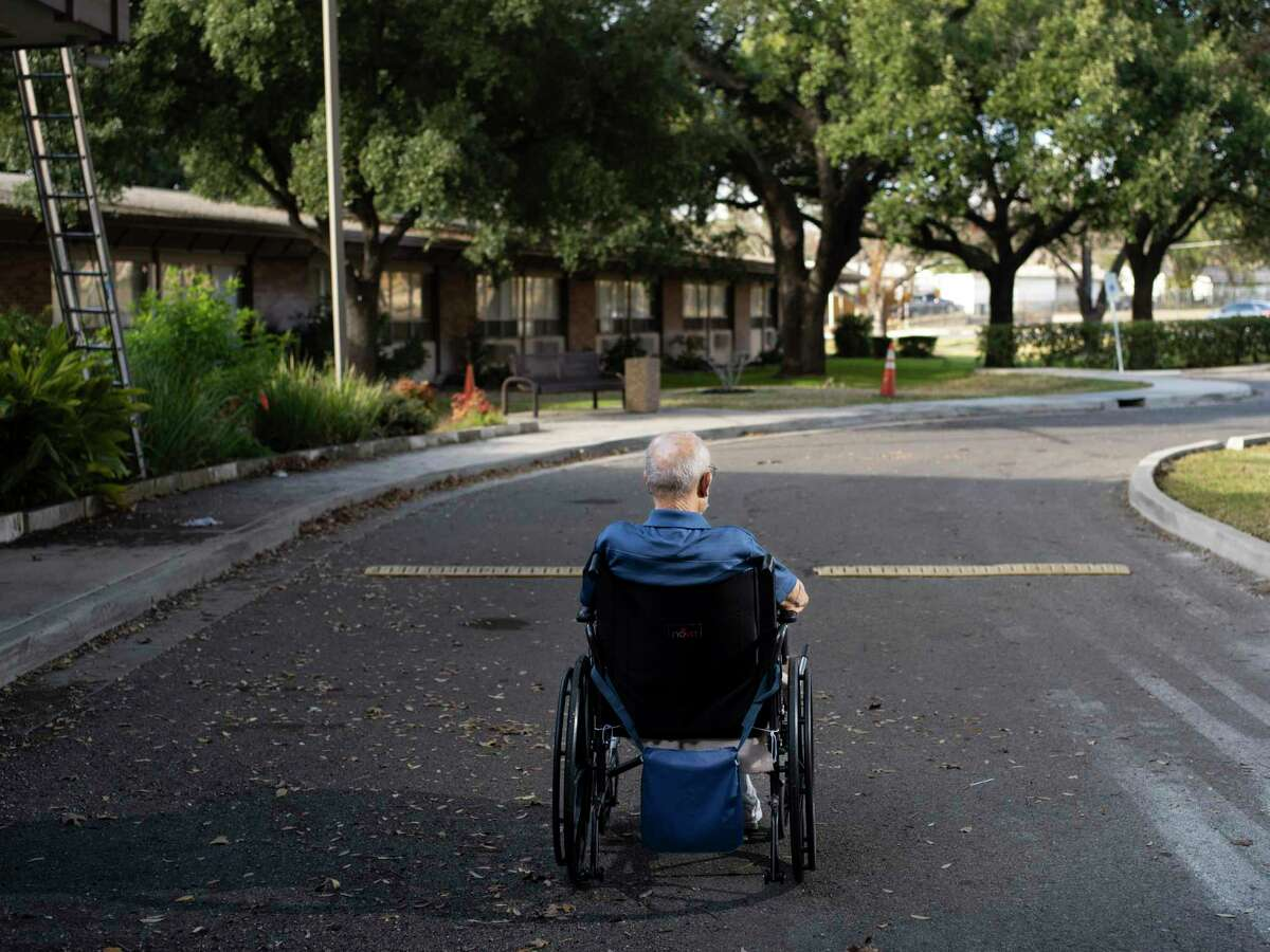 """Eldon Webb, 95, a resident at Morningside Ministries Assisted Living Facility will receive the COVID-19 vaccination at the nursing home where he lives tomorrow in San Antonio, Tx., U.S., on Monday, December 28, 2020. Webb, who is the president of the resident council at the home says that he has been lonely at the facility, only visiting with his daughter who lives in San Antonio, through his bedroom window. When asked about his fears about contracting COVID-19 he says, """"I know I'm not going to live very long, but I can't imagine being in the hospital."""" Adding that he just worries about his last moments, and not being able to say goodbye to those he loves when the time comes."""