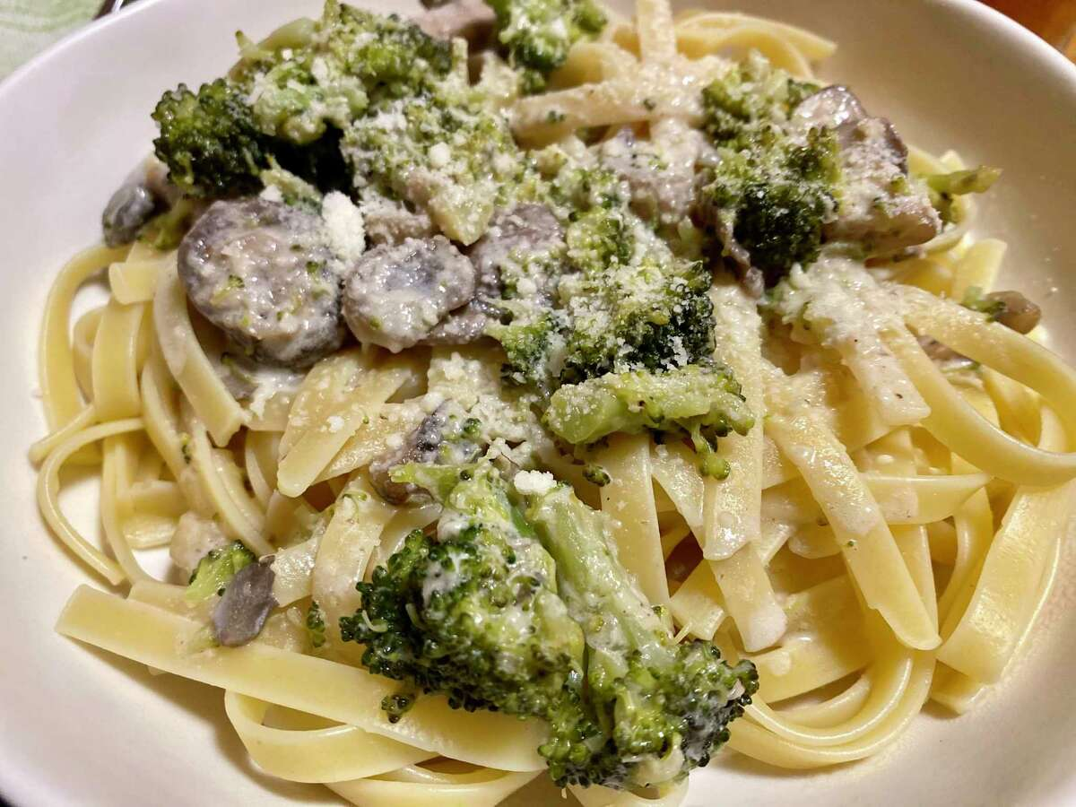 Broccoli and mushroom pasta makes for a simple and comforting meal.