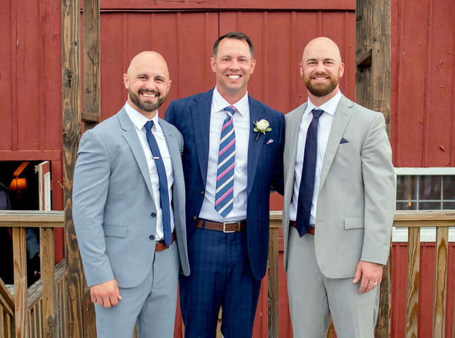 Left to right, brothers Matt, Mark and Joe Allaria graduated from Edwardsville in 2000, 1998 and 2007, respectively. Photo: For The Intelligencer