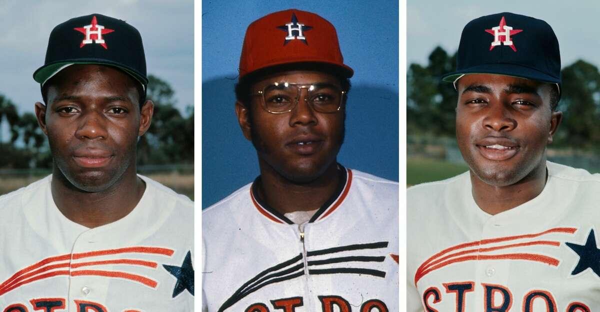 Houston Astros legends (from left) Jimmy Wynn, Bob Watson and Joe Morgan all died in 2020.