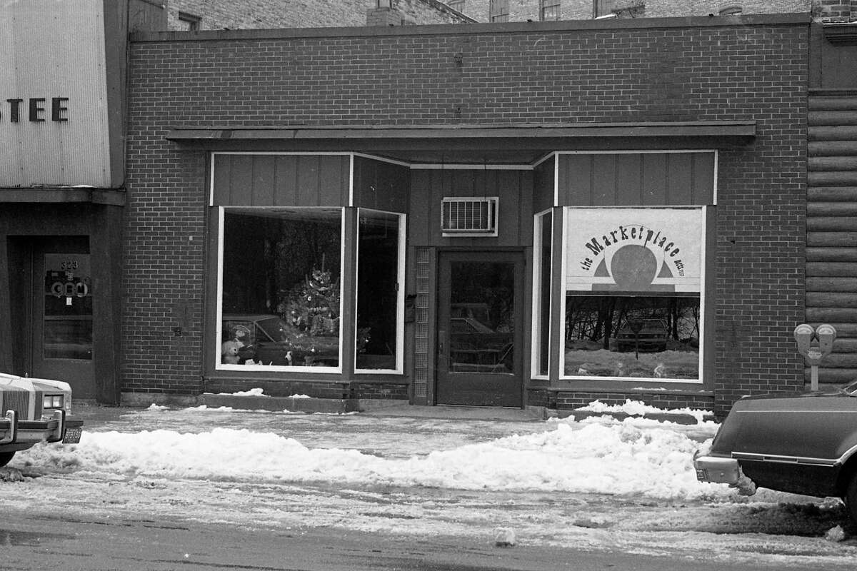 """From the Dec. 30, 1980 News Advocate, """"For gospel, good times and the good news look no further than the Christian coffee house, 'The Marketplace' located at 325 River St."""" (Manistee County Historical Museum photo)"""