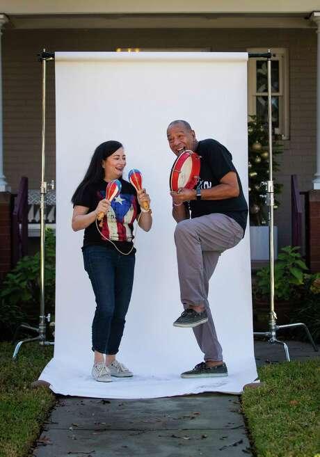 "Esteban ""Kuko"" Miranda is a professional musician, and Marian Cabanillas is the Health Plan CEO at Unitedhealthcare Community Plan of Texas. Photo: Marie D. De Jesús, Houston Chronicle / Staff Photographer / © 2020 Houston Chronicle"