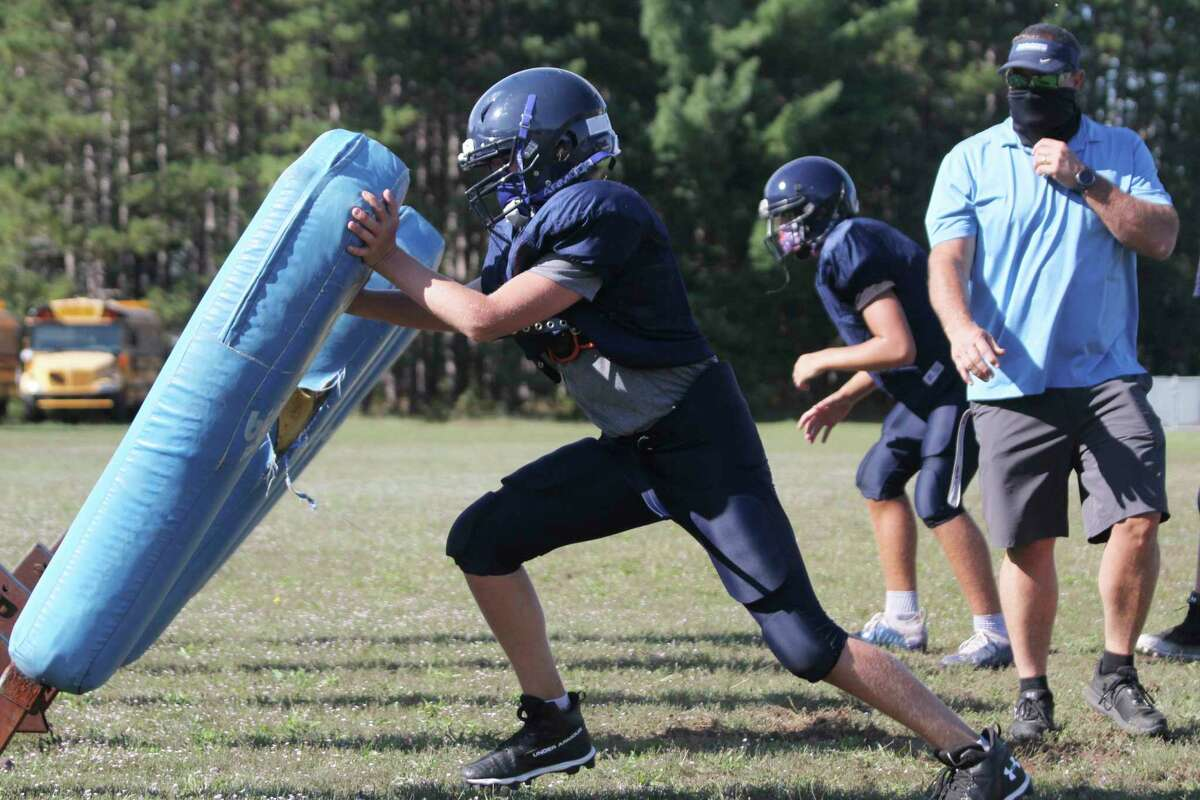 There were tons of twists and turns concerning football this fall as the season was ultimately delayed before being suspended again during the playoffs. Pictured are Brethren players running drills at an early practice this fall. (News Advocate file photo)