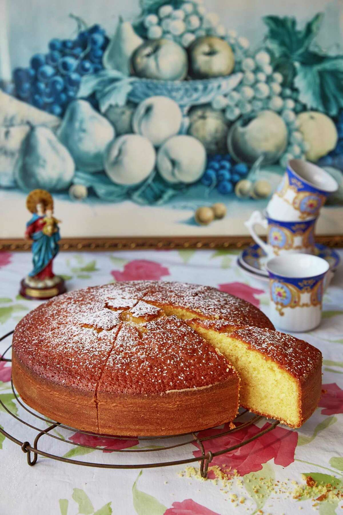 Vasilopita cake, a Greek New Year's Eve tradition for good luck, is in Christina Loucas' 2021 cookbook