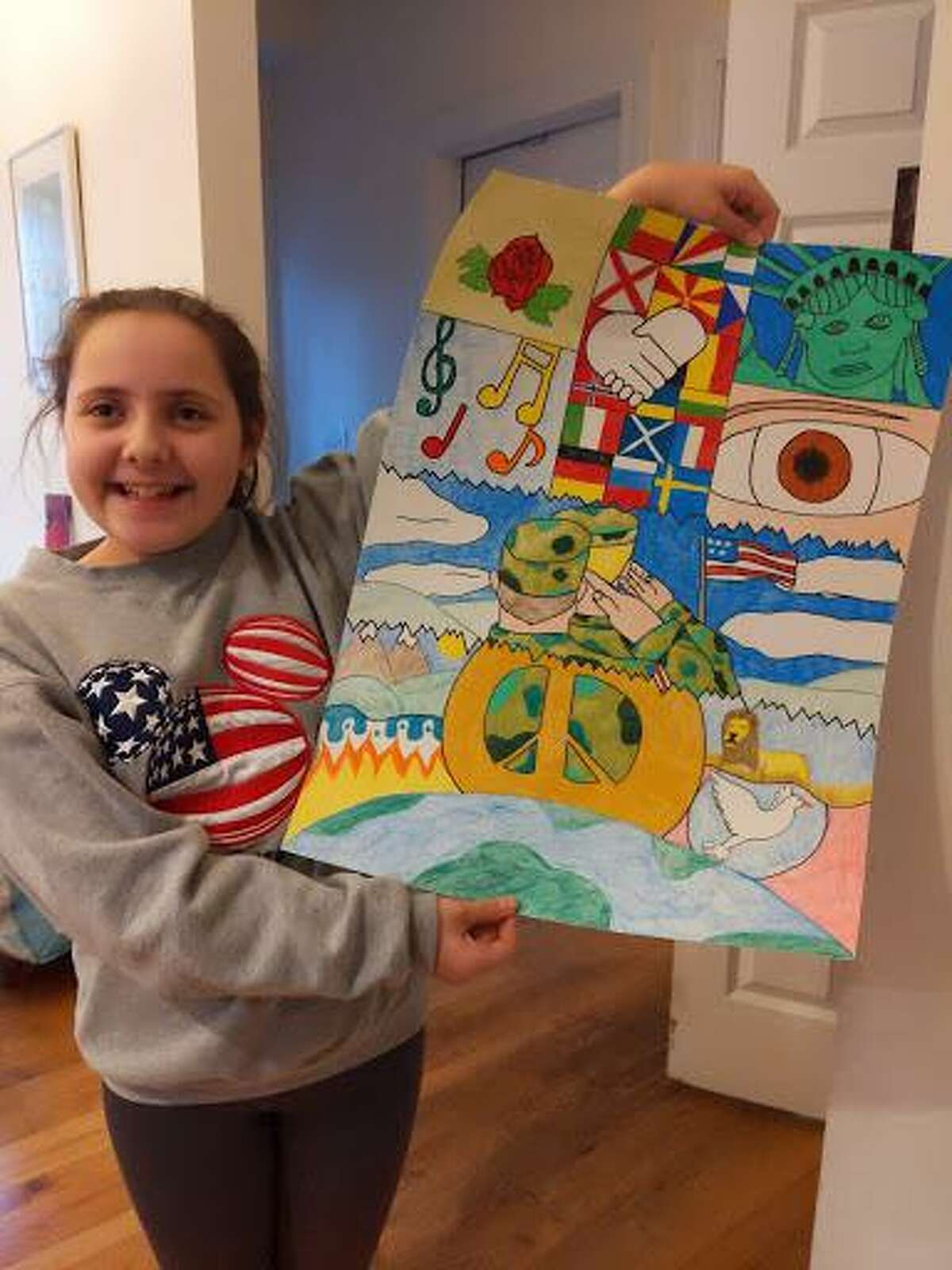 Chloe Pernaselci, a 7th grade student at Seymour Middle School, has taken the first step to becoming an internationally recognized artist by winning a local competition sponsored by the Seymour Lions Club.