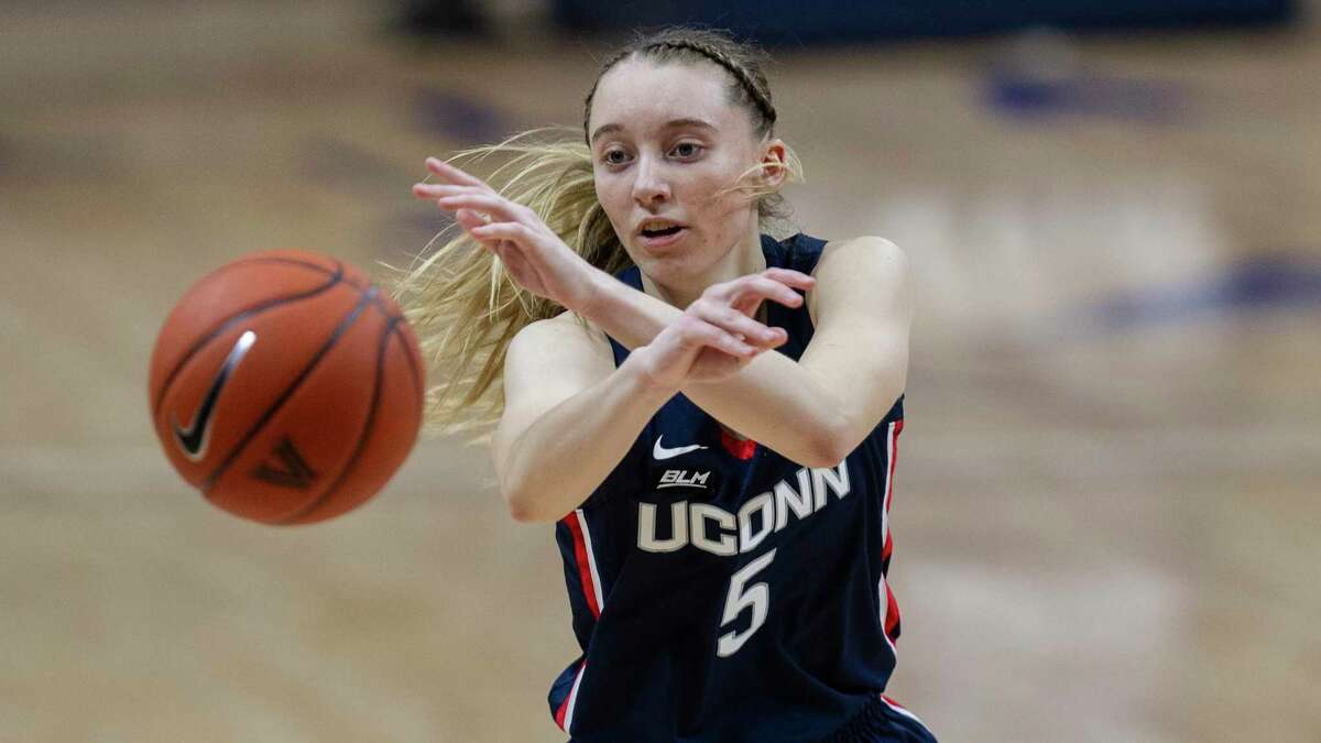 UConn guard Paige Bueckers in action during against Villanova last Tuesday.