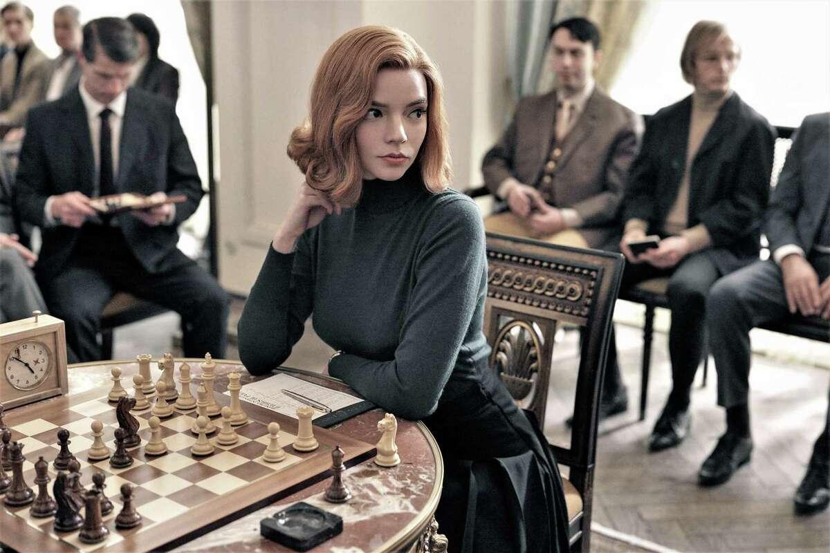 """The Queen's Gambit"" on Netflix. Anya Taylor-Joy portrays chess prodigy Beth Harmon."