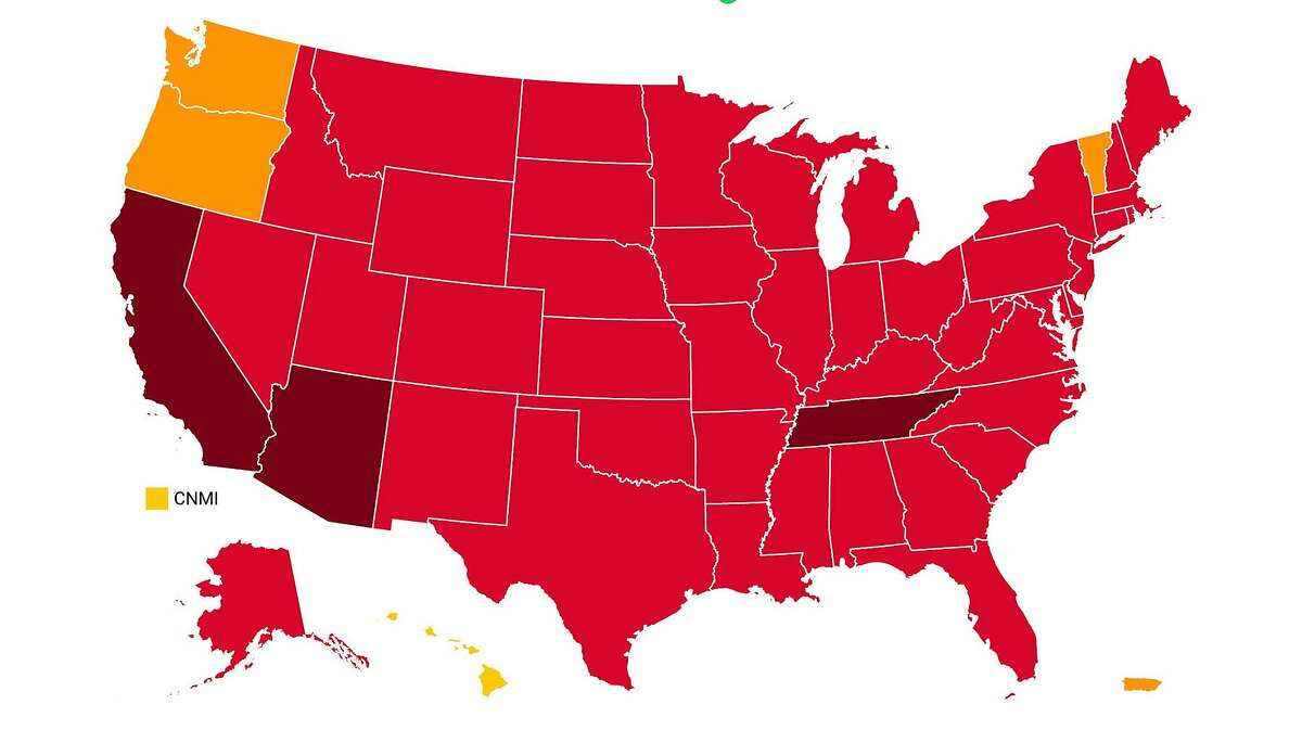 This U.S. map shows COVID-19 risk levels by state as of Tuesday, Dec. 29, on the Covid Act Now website.