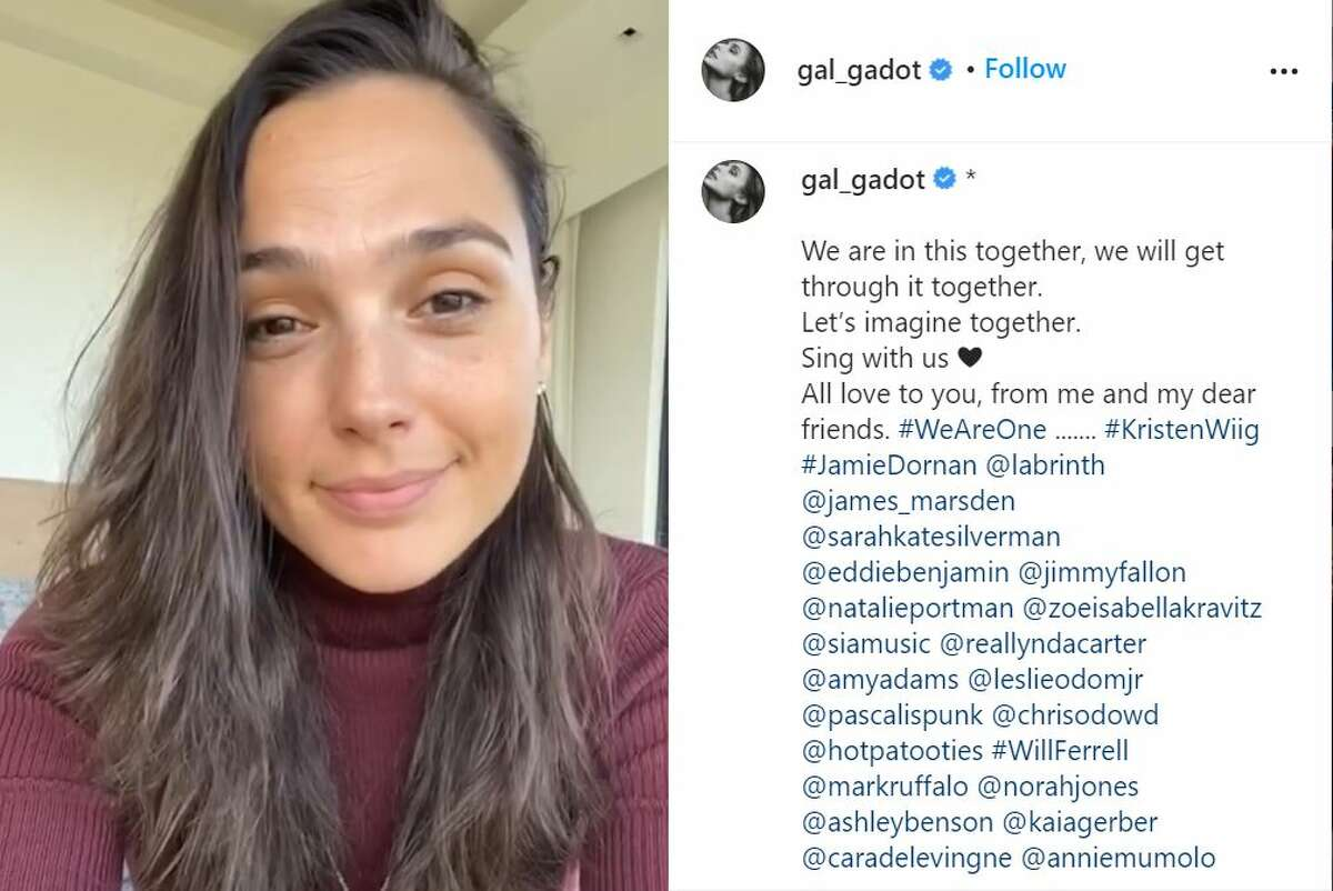 Gal Gadot and several other celebrities created a rendition of