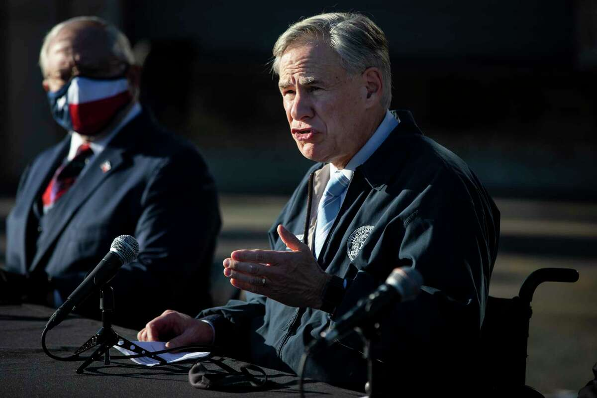 Texas Gov. Greg Abbott is showing his support for San Antonio again as Pentagon leaders move closer to selecting a city to host the U.S. Space Command.