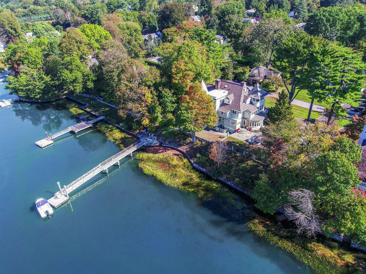 This beautifully renovated historic home sits high on its site, looking out across Cos Cob Harbor. The property has 154 feet of direct water frontage, as well as its own dock. Brown Harris Stevens Connecticut is the listing brokerage for 29 Glen Avon Drive, Riverside, which currently has an asking price of $4.495 million.