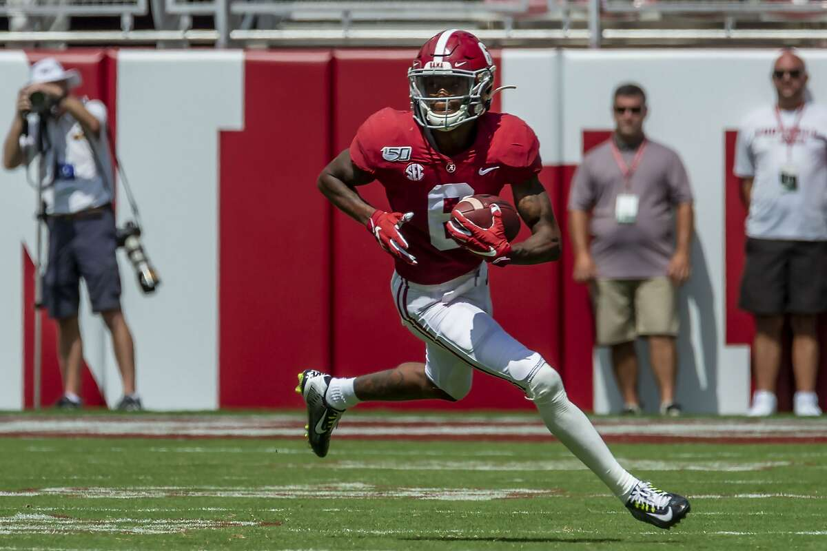 DeVonta Smith is the first wide receiver to win the award since it was established in 1998. He has 19 touchdowns this season.