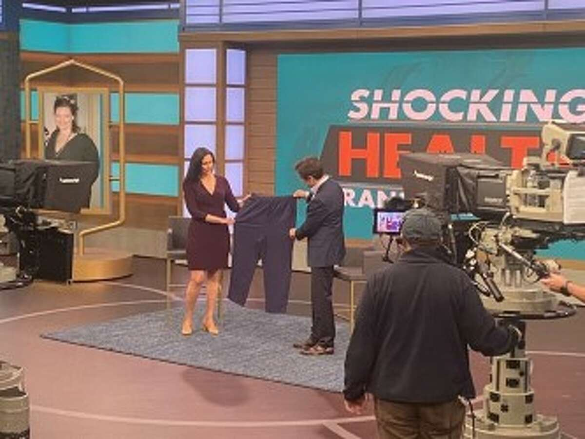 Amy Freinberg--Trufas on the Dr. Oz set. (Provided)