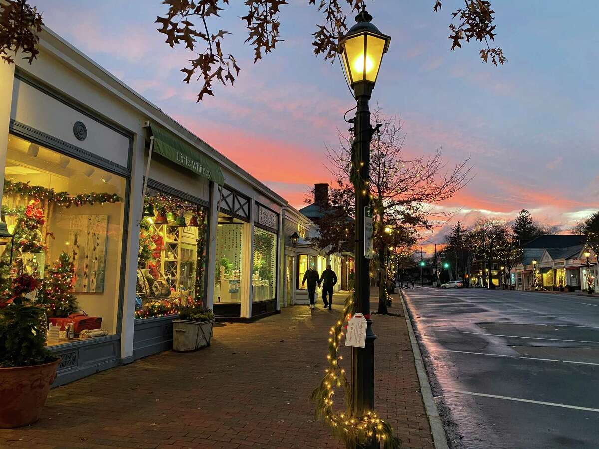A stunning sunset is seen in New Canaan on Christmas. New Canaan leaders recently shared their resolutions for the New Year, 2021, for themselves, and residents of the town.