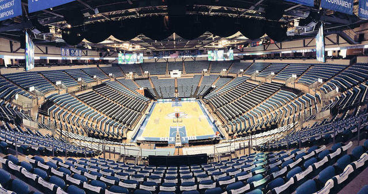 Chaifetz Area, the home of Saint Louis University basketball. The SLU men's basketball team has paused all activities because of positive COVID-19 tests within the program.