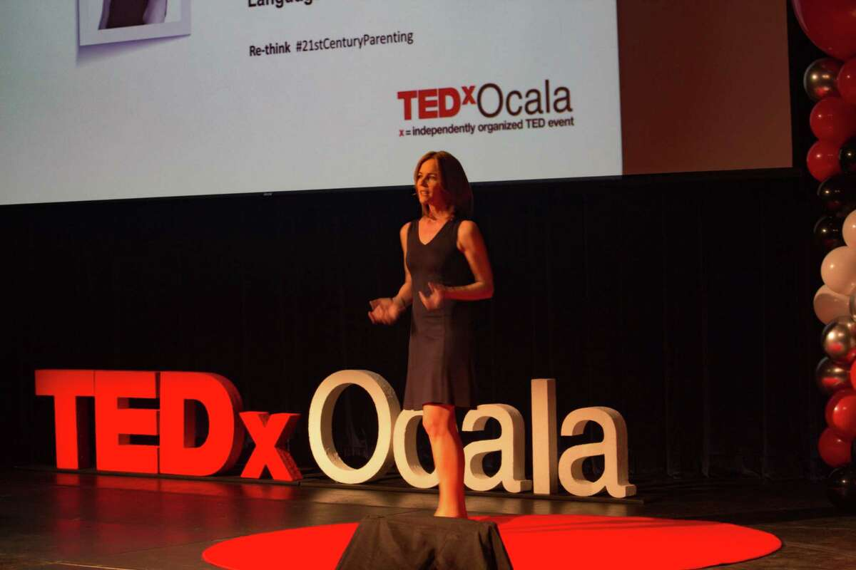 Caryn Antonini of New Canaan, founder of earlylingo.com, extolls the virtues of teaching children new languages at a young age in her TedX talk