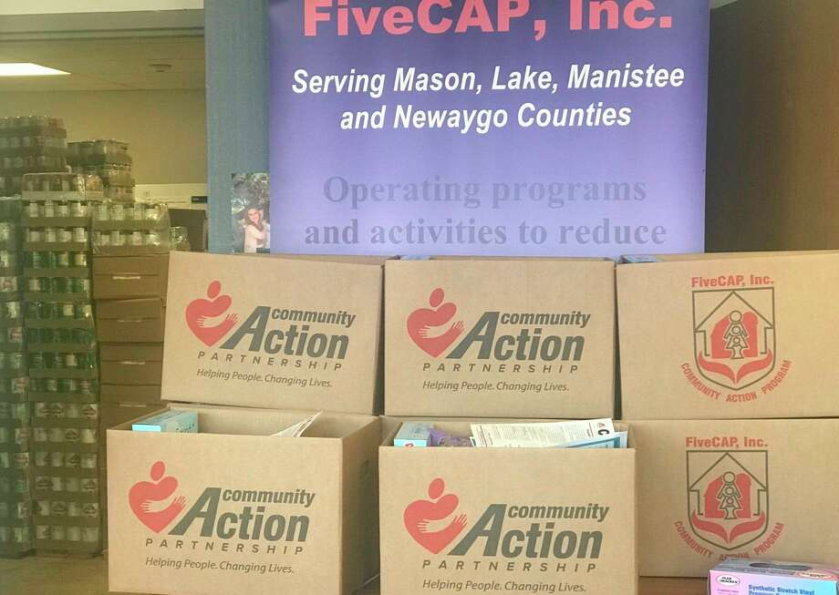 FiveCAP, Inc. distributed hundreds of food boxes this month in Mason, Newaygo, Manistee and Lake counties. (Courtesy photo)