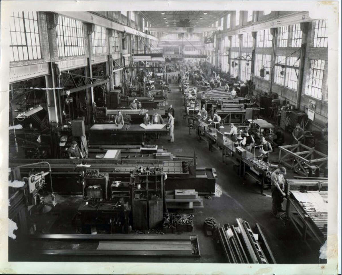 This undated Pioneer file photo shows the inside of Hanchett Manufacturing prior to the building closing and being demolished.