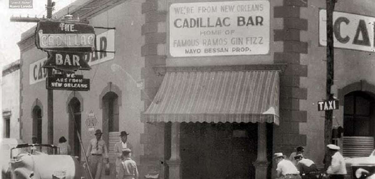 Nuevo Laredo's Cadillac Bar, before the July 1954 flooding of the Rio Grande that devastated the border cities.