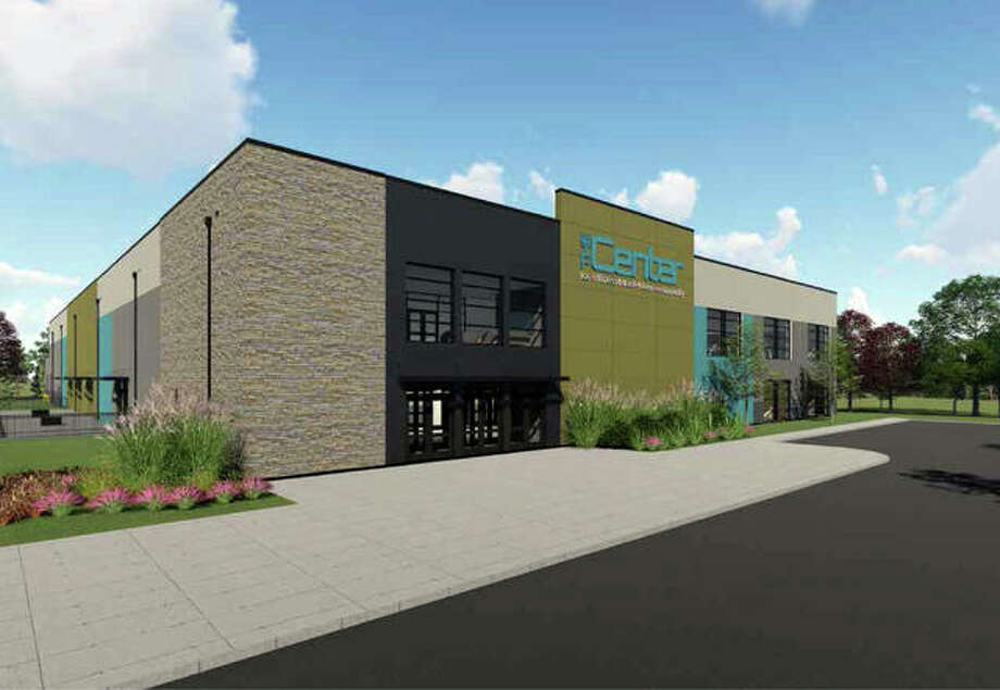 Rendering of TheCENTER's main entrance Photo: Courtesy Of The City Of Edwardsville