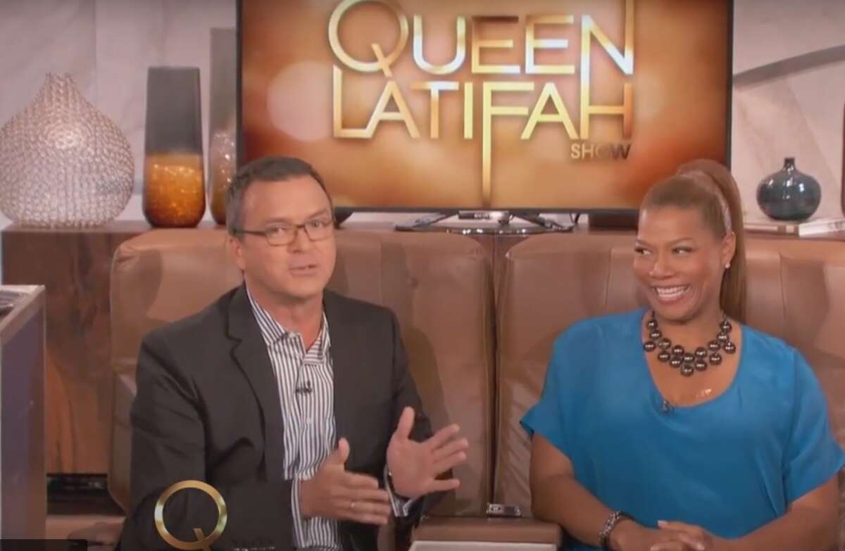 Queen Latifah invited me to LA for a travel tips interview in front of a live audience from two first class airline seats in the middle of the set! She was warm, personable and a LOT of fun (I expected no less!). Did you know that Queen Latifah's real name is Dana Owens? That's what everyone backstage was calling her. (I just called her