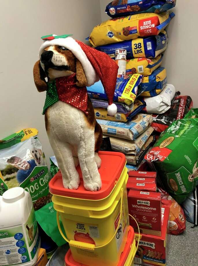 Hundreds of pounds of pet food, and other essential supplies, were donated to the Benzie County Animal Shelter during the annual Holiday Pet Food Drive. (Courtesy Photo)
