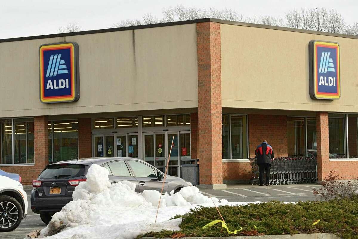 Exterior of ALDI supermarket on Wednesday, Dec. 30, 2020 in Rensselaer, N.Y. ALDI recently partnered with Instacart to allow EBT SNAP recipients to be able to get groceries delivered. (Lori Van Buren/Times Union)