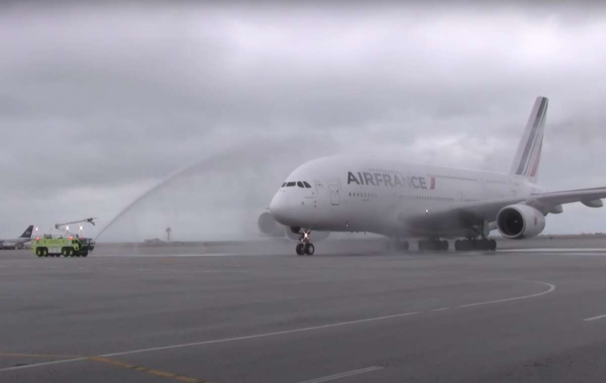 Back when Airbus A380 sightings were new and exciting, Air France asked me to make a video of its first A380 arrival at SFO on a cold rainy day in 2011. To be on the ramps, runways and up close and personal with a big bird like that was quite a thrill! See the video here.