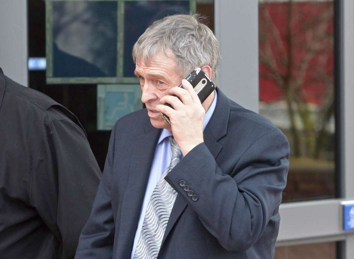 A file photo of Bruce Bemer when he was leaving Danbury, Conn., Superior Courthouse on April 2, 2019.