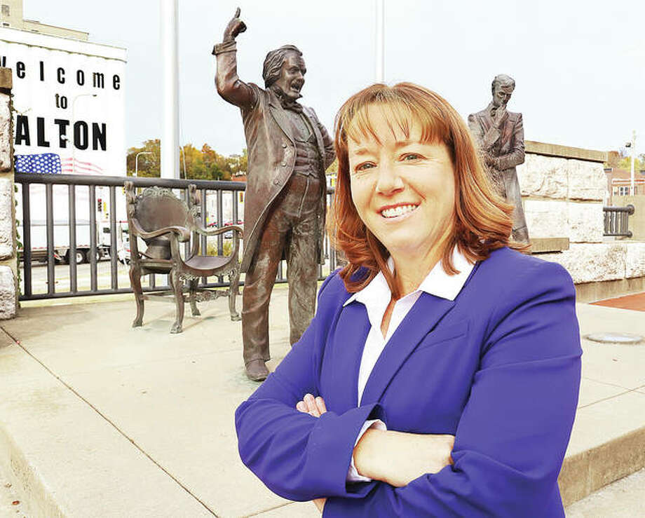 """Republican Amy Elik, of Fosterburg, defeated state Rep. Monica Bristow, D-Alton, to become the 111th Legislative District representative. Elik said she sees her new post as an oppportunity to speak for the """"forgotten voices"""" in the district."""