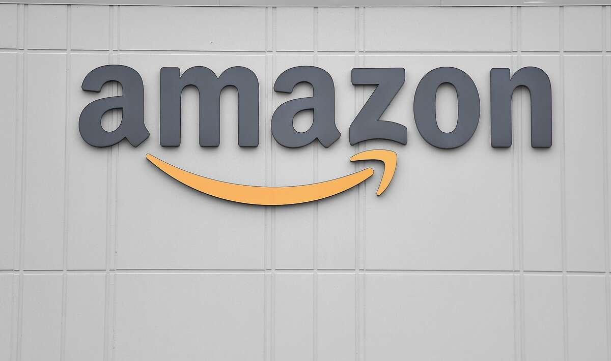 FILE -- In this file photo the logo of U.S. online retail giant Amazon is seen at the distribution center in Staten Island on March 30, 2020 in New York. (Photo by Angela Weiss / AFP) (Photo by ANGELA WEISS/AFP via Getty Images)
