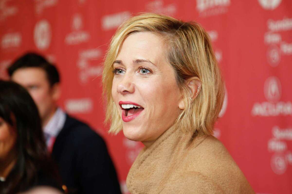 """Actress Kristen Wiig is interviewed at the premiere of """"The Diary of a Teenage Girl"""" during the 2015 Sundance Film Festival on Saturday, Jan. 24, 2015, in Park City, Utah. (Photo by Danny Moloshok/Invision/AP)"""