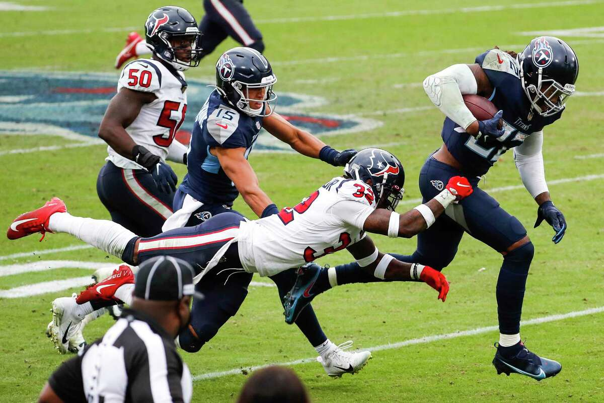 The Texans couldn't stop Derrick Henry in overtime earlier this season.