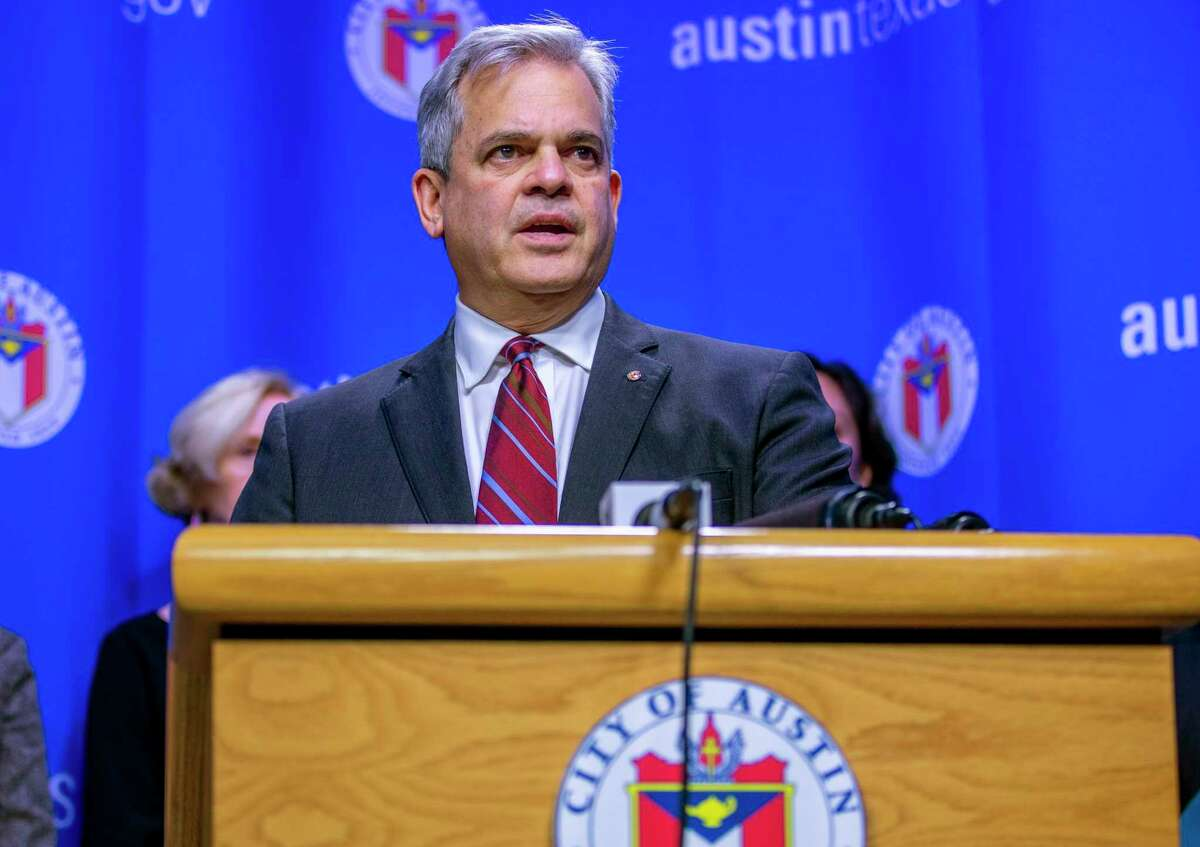 Austin Mayor Steve Adler, seen on March 6, announced restrictions Tuesday night that limit indoor and outdoor dine-in food and beverage services after 10:30 p.m. to 6 a.m. from Dec. 31 through Jan. 3, The restrictions ,don't prohibit contactless services like takeout and curbside pickup.