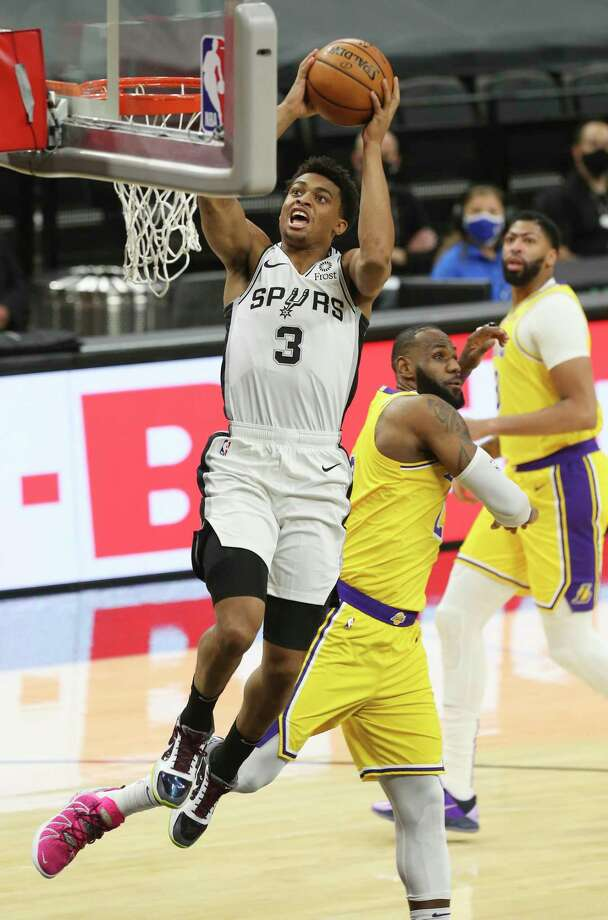 In his second season, Keldon Johnson has emerged as one of the Spurs' top players in points, rebounds and steals. Photo: Kin Man Hui / Staff Photographer / **MANDATORY CREDIT FOR PHOTOGRAPHER AND SAN ANTONIO EXPRESS-NEWS/NO SALES/MAGS OUT/ TV OUT