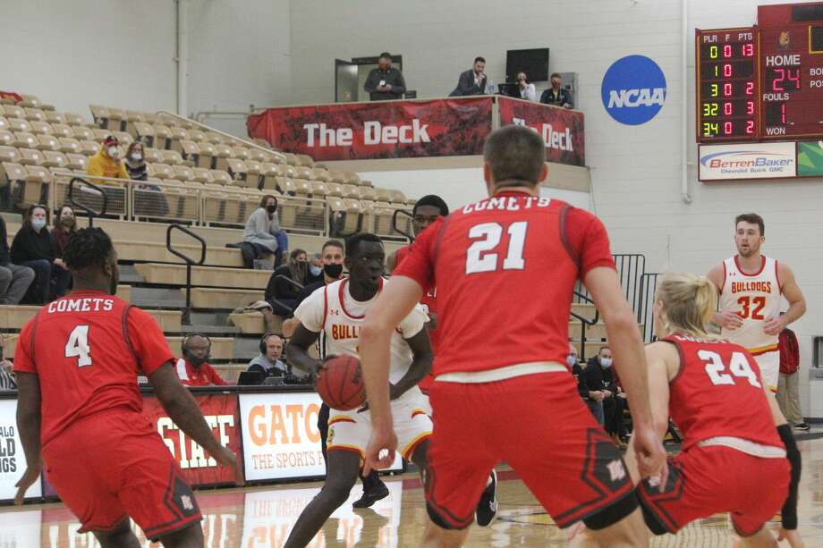 Ferris State's men's basketball team opened its home season on Wednesday with a 105-55 triumph over Olivet. Photo: John Raffel