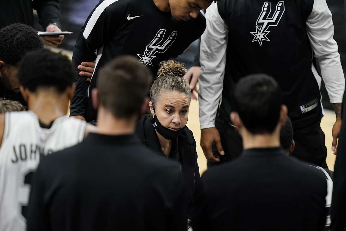 Assistant coach Becky Hammon assumed the reins after Gregg Popovich was ejected during a loss to the Lakers.