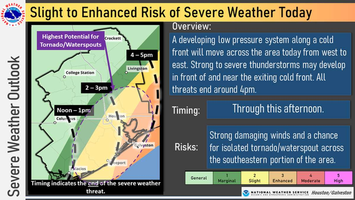 This National Weather Service infographic shows what to expect during storms on New Year's Eve.