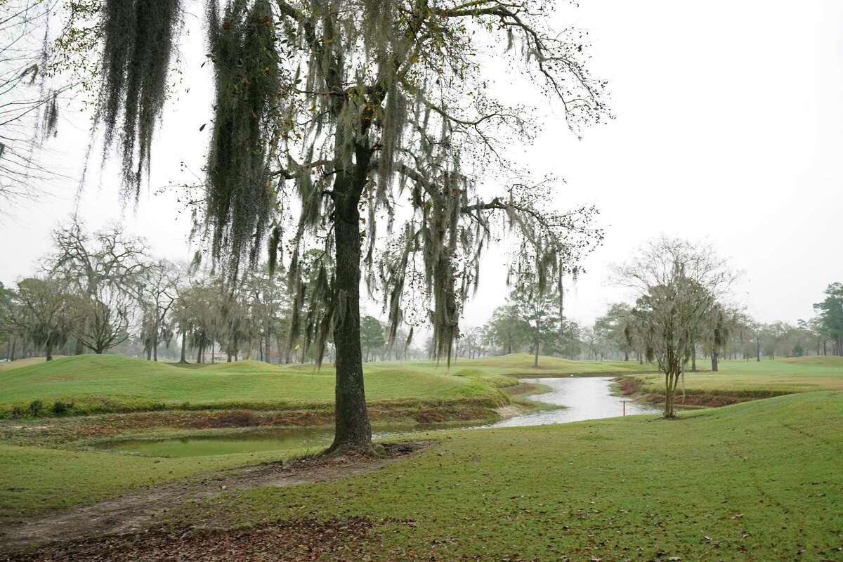 Raveneaux County Club is shown Friday, Jan. 17, 2020, in Spring. As the Harris County Flood Control District looks for more sites to store storm water in flood events, it is increasingly turning to golf courses. The county is preparing to purchase part of Raveneaux Country Club along Cypress Creek for a detention basin.