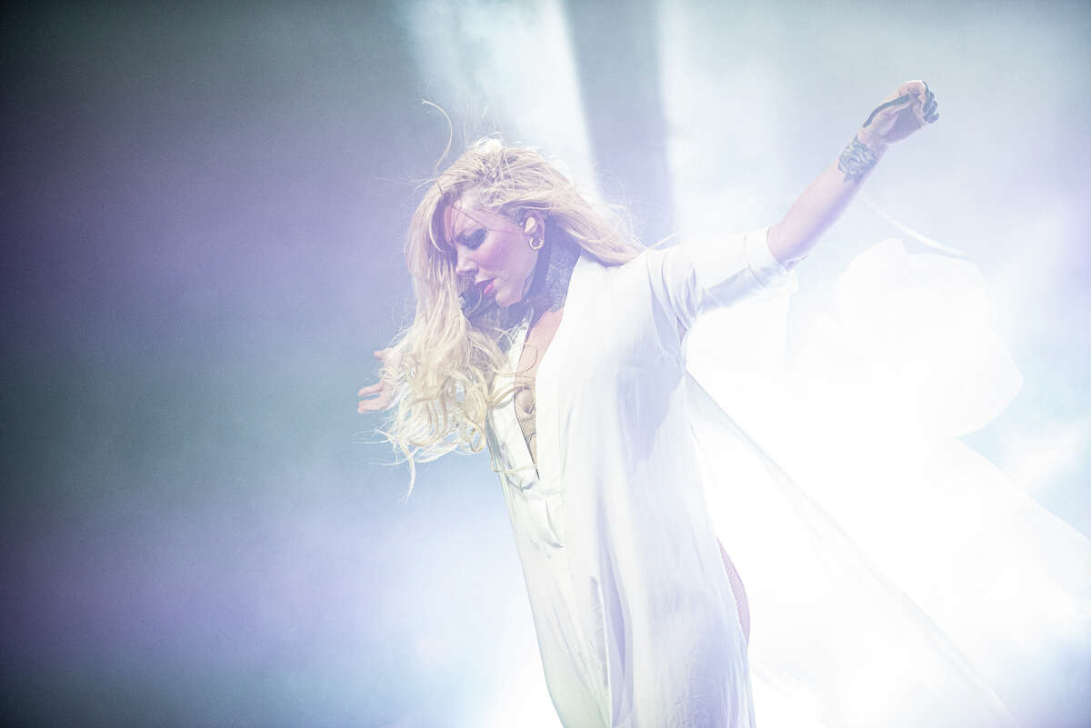 Maria Brink of In This Moment performs at the Palace Theatre in Albany, N.Y., on April 19, 2017.